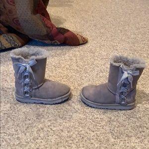 Ugg grey lace up Pala sheepskin boots sz 12